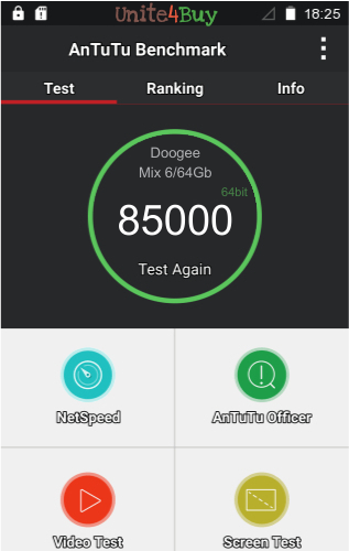 Doogee Mix 6/64Gb Antutu benchmark score