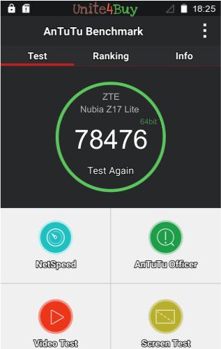 ZTE Nubia Z17 Lite Antutu benchmark score