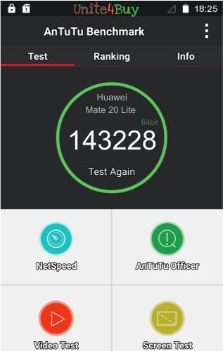 Huawei Mate 20 Lite Antutu benchmark score