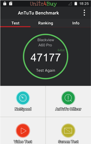 Blackview A60 Pro Antutu benchmark score